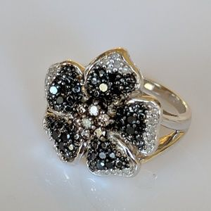 Jewelry - Diamond Flower Petal Ring .50 CT Total Size 8